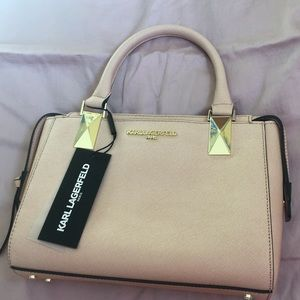 Karl Lagerfeld blush pink purse